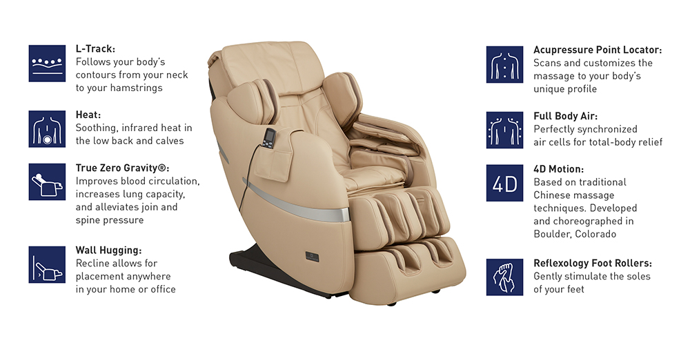 brio massage chair features